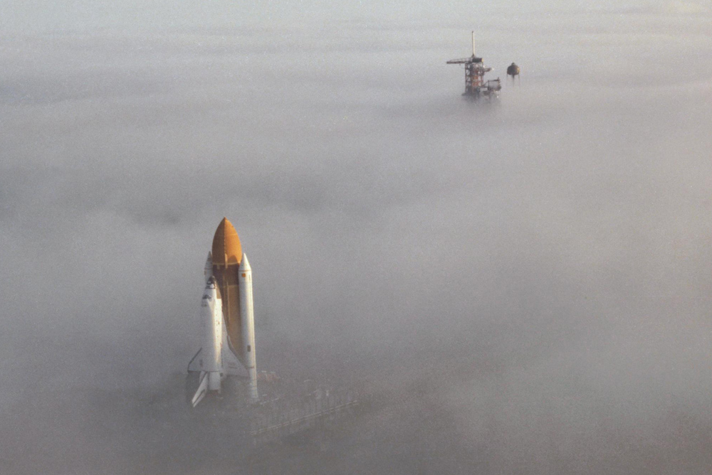 Space Shuttle auf dem Launch Pad